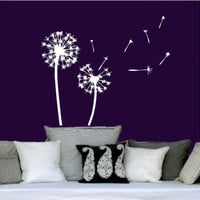Wall Decals Vinyl Sticker Decal Murals Dandelion in the Wind Flower Nature Plants Grass Forest Home Decor Nursery Bedroom Murals SV6048