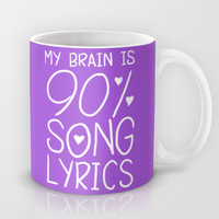 90% Song Lyrics Mug by LookHUMAN