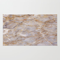 Marble Texture 43 Area & Throw Rug by Robin Curtiss