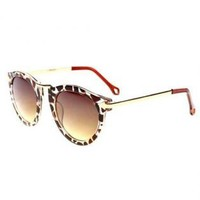 Leopard Print Frame Cat Eye Sunglasses TR561