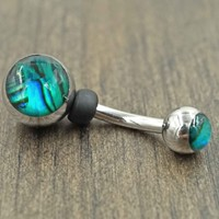 Abalone Shell Belly Button Ring
