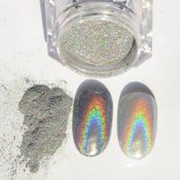 1 Box Born Pretty Holographic Laser Nail Glitter Powder Holo Rainbow Effect Pigment Manicure Nail Art Chrome Polish Pigments