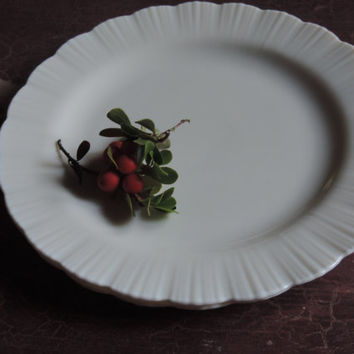 "MacBeth-Evans Cremax Milk Glass Dinner Plates Set of four MacBeth Evans Petalware 9"" Plates"