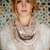 Cloudbank Scarf by Anthropologie Cream One Size Scarves