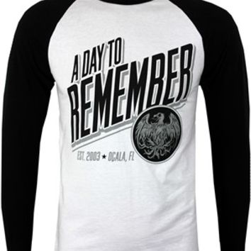 A Day To Remember Phoenix Men's Baseball T-Shirt - Buy Online at Grindstore.com