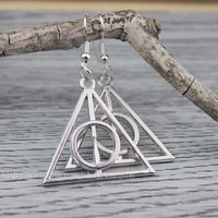 Harry potter earrings - the ancient silver and bronze charm, women's fashion jewelry pendant, girlfriend's gift