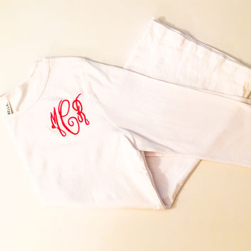 Long Sleeve Embroidered Monogrammed Shirt