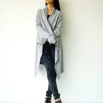 NO.61 Light Grey Cotton-Blend Versatility Cardigan