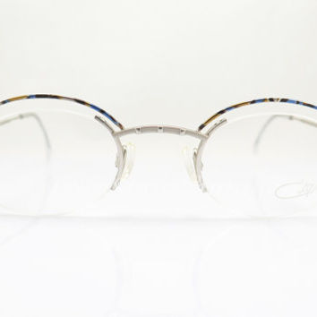 CAZAL 773 , Vintage Eyeglasses , Silver , Semi-Rimless , Oval , New Old Stock , Sunglasses Frames