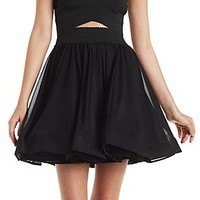BANDAGE BODICE SKATER DRESS