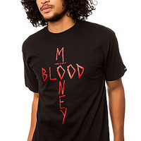 The Bloody Money Tee in Black