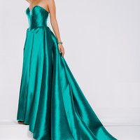 Green and Fuchsia Long Sweetheart Neck Prom Jovani Dress 39493