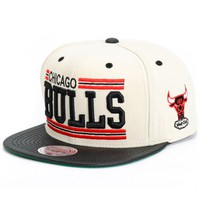 NBA Mitchell and Ness New Block Bulls Snapback Hat