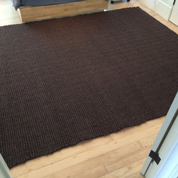 Thatch WOOL RUG from DWR, braided wool, Bear 8x10