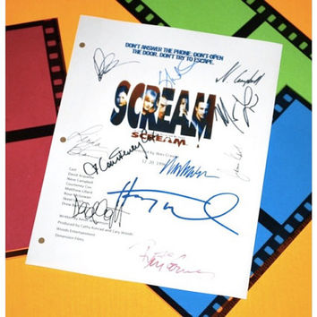 Scream Movie Signed Screenplay Autographed: Wes Craven, Courtney Cox, David Arquette, Neve Campbell, Matthew Lilliard, Rose McGowan & More