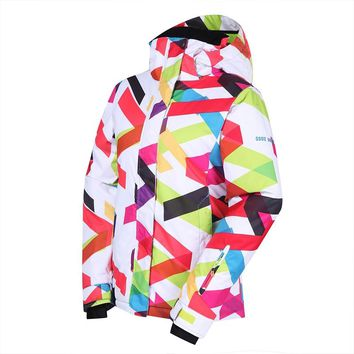 Women Ski Snowboard Jacket Windproof Waterproof Outdoor Sport Wear Camping Riding Skiing Warm Clothing Camping Riding Female New