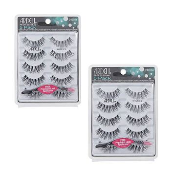 Ardell Wispies 5 Packs 68984 with Free Applicator (Multipack of 2)