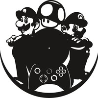 Mario cdr and svg vectors for sublimation, serigraphy, vinyl and more instant download