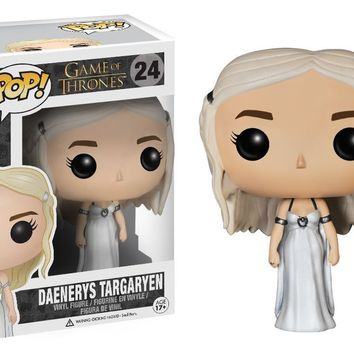 Funko - Pop Game of Thrones Daenerys Drogon Ride Jon Snow Wolf Figure Gift a F02