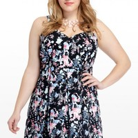 Plus Size Begonia Floral Sweetheart Dress | Fashion To Figure