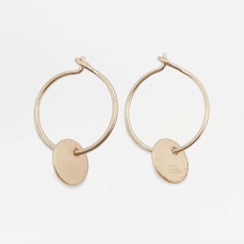 Disc Pendant Hoop Earrings - Urban Outfitters