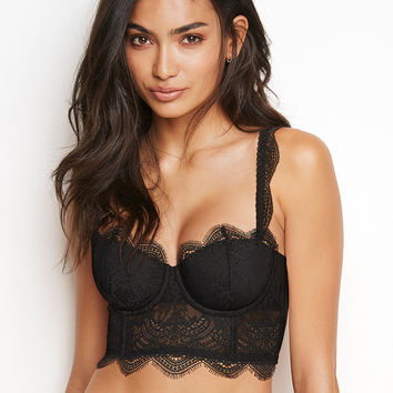 Floral Lace Long Line Bra - Dream Angels - Victoria's Secret