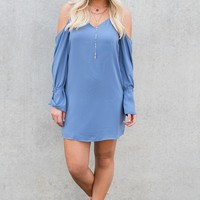 Willa Long Sleeve Dress (Lake)