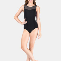 Free Shipping - Adult Microfiber Tank Mesh Leotard by NATALIE COUTURE