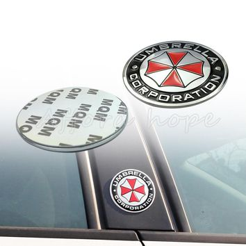 Motorcycle Bicycle Car Metal Resident Evil Car Stickers Emblems Decoration Metal UMBRELLA Car Exterior Decal Universal Fit