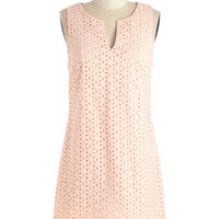 Pastel Short Length Sleeveless Shift Eyelet Adventures Dress