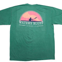 Waters Bluff Paddler Short Sleeve Tee- Grass