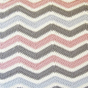 Best crochet chevron blanket pattern products on wanelo blanket crochet pattern chevron baby blanket with instructions to make in larger sizes instant dt1010fo