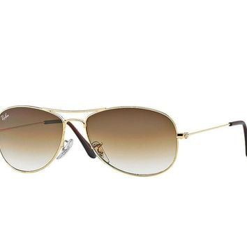 Ray Ban Cockpit Sunglasses Arista Gold Frame/Brown Gradient Lens