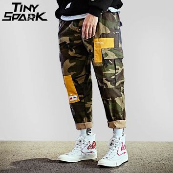 Hip Hop Pant Street wear Men Big Pocket Casual Loose Harem Pant Army Green Military Tactical Cargo Trousers