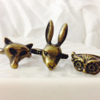 Set of 3 Vintage Animal Rings