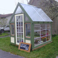 Greenhouse made of Vintage Materials