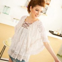 Generous Lace Hot Sale Ladies White Blouses : Wholesaleclothing4u.com