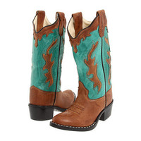 Old West Kids Boots Fashion Western Boot (Toddler/Youth) Tan Canyon/Vintage Turquoise - Zappos.com Free Shipping BOTH Ways