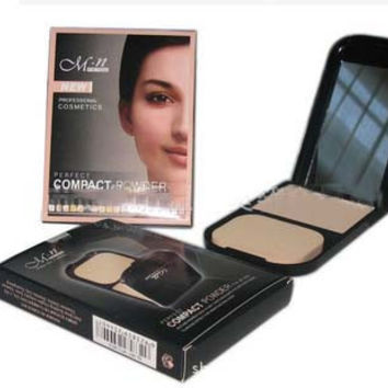 Brand M.N Professional Face Makeup Pressed Powder with Concealer Pencil Compact Powder