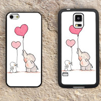 Bunny elephant iPhone Case-Love heart iPhone 5/5S Case,iPhone 4/4S Case,iPhone 5c Cases,Iphone 6 case,iPhone 6 plus cases,Samsung Galaxy S3/S4/S5-089