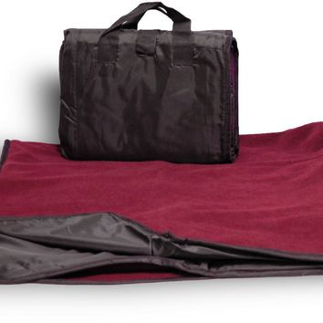 Waterproof Picnic Blanket- Solid Burgundy - CASE OF 24