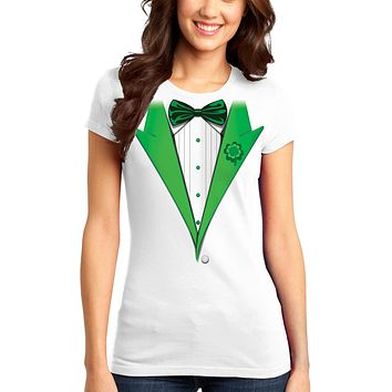 Leprechaun Tuxedo Adult Womens St. Patrick's Day Ladies Juniors T-Shirt