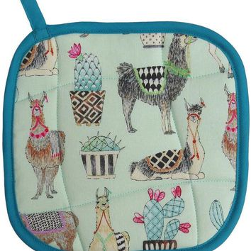 Collisionware Handmade Llamas Pot Holder