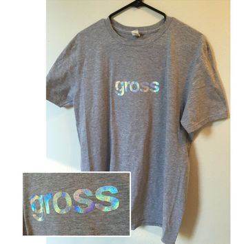 Holographic Gross Grey Tee