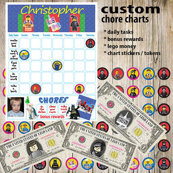 Kids Chore Chart,Lego Planner Printable,Kids Reward Chart,Responsibility Chart,Positive Behavior Chart,Star Chart,Kids Planner,Weekly Chart
