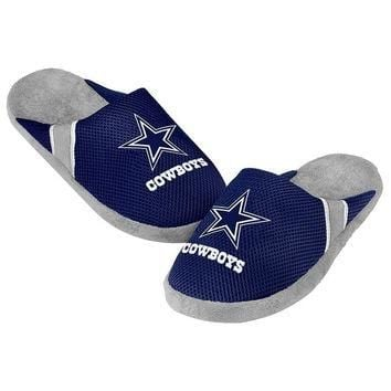 NFL Dallas Cowboys Jersey Slippers [Men's Large - Size 11-12 US]
