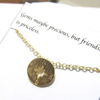 Compass Necklace, B2, Best Friend Gift, Gift For Friend, Delicate necklace, Dainty Necklace, Everyday Necklace,Friendship necklace