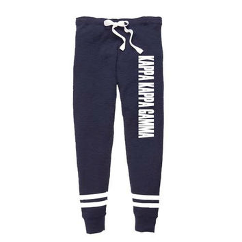 Kappa Kappa Gamma Thermal Joggers, Kappa Kappa Gamma Sweatpants, Kappa Apparel, KKG jogging Pants, Greek Apparel, Sorority Letter Shop