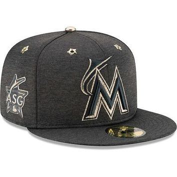 Miami Marlins New Era 59FIFTY 2017 MLB All-Star Game Heathered Fitted Hat Cap