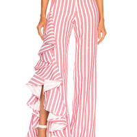 Alexis Mahalia Pant in Red Cream Stripes | FWRD